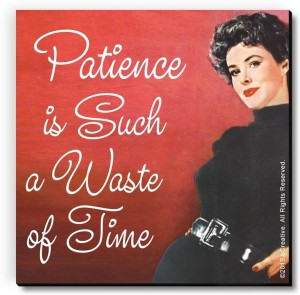 bCreative Patience Is Such A Waste of Time Fridge Magnet, Door Magnet