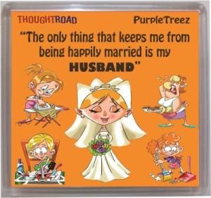 Thoughtroad Happily Married Door Magnet, Fridge Magnet
