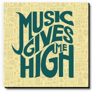 Seven Rays Music Gives Me High Fridge Magnet