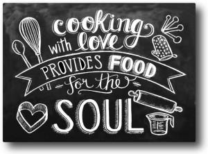 Nourish Cooking With Love Fridge Magnet