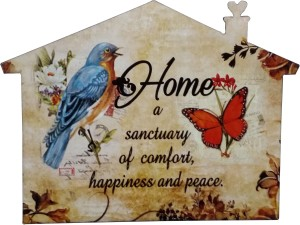 Fabionic Home A Sactuary of Comfort, Happiness and Peace Fridge Magnet