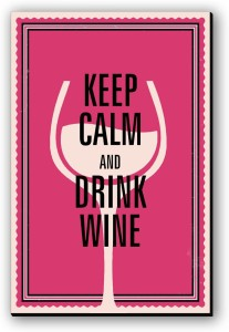 Seven Rays Keep Calm & Drink Wine Fridge Magnet