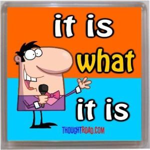 Thoughtroad It Is What It Is Door Magnet, Fridge Magnet