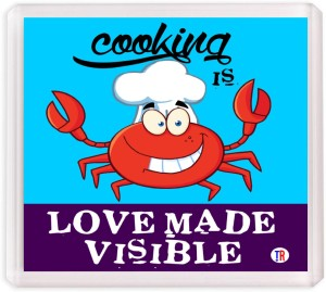 Thoughtroad Cooking Is Love Made Visibile Fridge Magnet