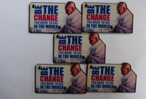 The Values Store Gandhi Fridge Magnet