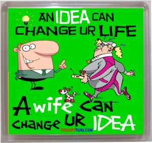 Thoughtroad An Idea Can Change Fridge Magnet