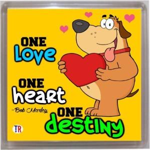 Thoughtroad One Love Door Magnet, Fridge Magnet
