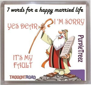 Thoughtroad Happy Married Life Fridge Magnet