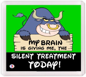 Thoughtroad The Silent Treatment Fridge Magnet