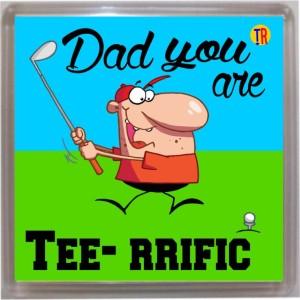 Thoughtroad Dad Terrific Door Magnet, Fridge Magnet
