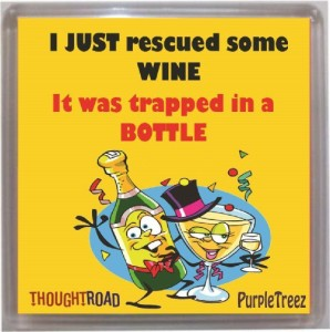Thoughtroad Rescued Some Wine Fridge Magnet