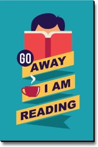 Seven Rays Go Away I am Reading Fridge Magnet