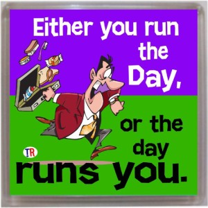 Thoughtroad Run The Day Fridge Magnet
