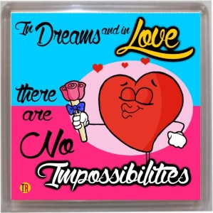 Thoughtroad In Love Nothing Is Impossible Door Magnet, Fridge Magnet