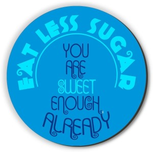 Seven Rays Eat Less Sugar Fridge Magnet