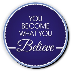 Seven Rays You Become What You Believe Fridge Magnet