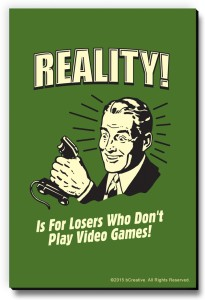 bCreative Reality! Is For Losers Who Don't Play Video Games! Fridge Magnet, Door Magnet