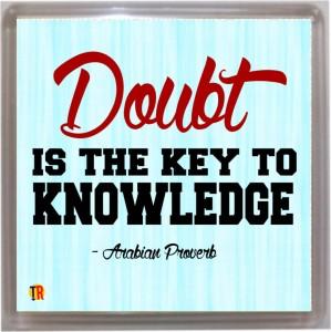 Thoughtroad Doubt Door Magnet, Fridge Magnet