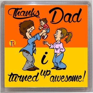 Thoughtroad Thanks Dad Door Magnet, Fridge Magnet