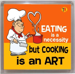 Thoughtroad Cooking Is An Art Fridge Magnet