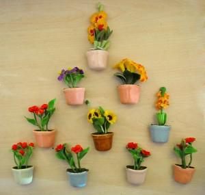 Lal Haveli Artificial Flowers Wall Stickers For Door Fridge Magnet