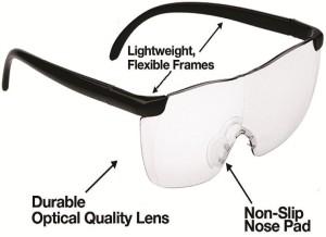 d90d0ef870c0 Kawachi New Big Vision Magnifying Eyewear unisex Big Vision plastic glasses  2.5X Magnifying EyewearTransparent