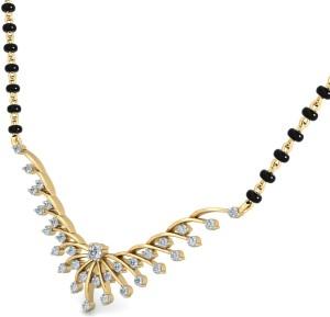 WearYourShine by PC Jewellers The Afya 18kt Diamond Yellow Gold Mangalsutra Tanmaniya