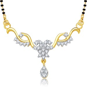 VK Jewels VK Jewels Artistically Gold and Rhodium plated Mangalsutra  Pendant Alloy Mangalsutra