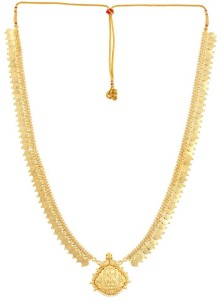 2b9aee3d8ed6e Womens Trendz Long Laxmi Pendant Haar Crystal Yellow Gold Plated Alloy  Necklace