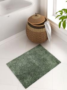 WELHOME Cotton Bath Mat WELHOME Unwinders Sage Cotton Bath Mat - Large