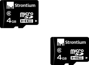Strontium 4 GB MicroSD Card Class 6  Memory Card