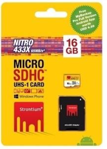 Strontium Nitro 16 GB MicroSDHC Class 10 65 MB/s  Memory Card