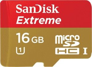 SanDisk Extreme 16 GB MicroSDHC Class 10 45 MB/s  Memory Card
