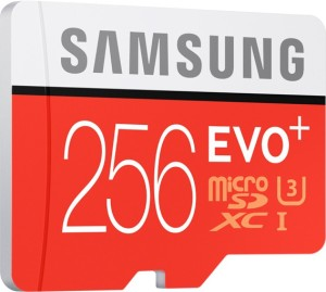 Samsung Evo Plus 256 GB MicroSDXC Class 10 95 MB/s  Memory Card