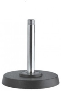 Krown High Quality Desk Heavy Round Base (with extension Rod) - Small Microphone Stand