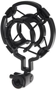 Powerpak Imported Universal Microphone Shock Mount Cradle Holder Clip Stand (Plastic) Plastic Shock Mount