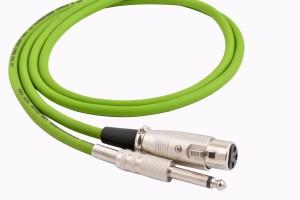 Prodx p-38 silver mono to xlr female microphone-3mtr cable
