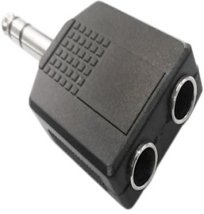 Prodx 6.3mm sterio male to dual 6.3mm female audio pack of 2pes Connector