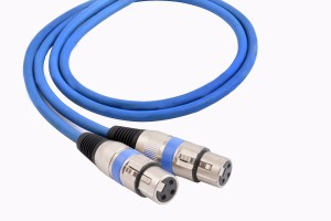 Prodx xlr to xlr female microphone extention blue 3mtr cable