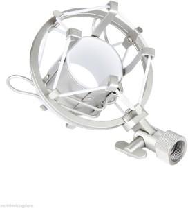 Powerpak Universal Microphone Metal Shock Mount Holder Clip For Studio Condenser Microphone Shock Mount for Studio Condenser Microphone