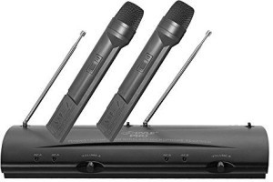 PylePro PDWM2100 Professional Dual VHF Wireless Handheld Microphone System Microphone