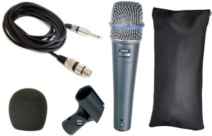 Krown General Professional PA Series Beta-57 XLR Wired Unidirectional Dynamic Mic Microphone