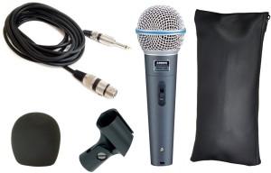 Krown General Professional PA Series Beta-58 XLR Wired Unidirectional Dynamic Mic Microphone