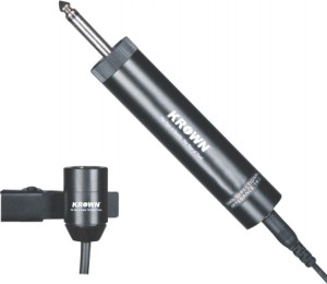 Krown General PA Series Omnidirectional CTP-10DX Electret Condenser Tie Mic Microphone