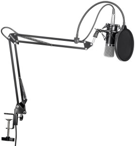 Neewer NW-700 Professional Studio Broadcasting Recording Condenser Microphone & NW-35 Adjustable Recording Microphone Suspension Scissor Arm Stand with Shock Mount and Mounting Clamp Kit Microphone