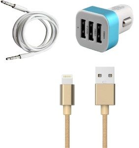 Go4Shopping Wall Charger Accessory Combo for Apple iPhone 5S