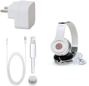 Kart4Smart Wall Charger Accessory Combo for Apple Iphone 5S