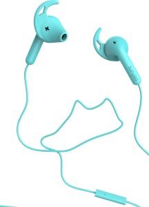 Defunc GO Sport (Swedish Brand) Cyan Wired Headphones