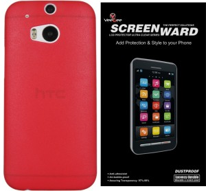 super popular 93387 d3c82 VeeGee Polycarbonate Slim Matte Case Back Cover for HTC One (M8 Eye)  (Frosted Red) + Screen Protector Accessory Combo
