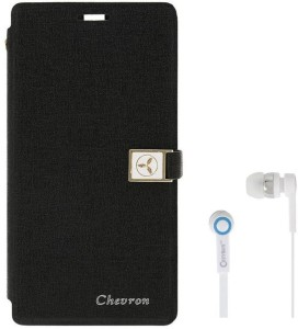 Chevron Royal Armour Flip Cover With Stand Feature for Samsung Galaxy J7 With Chevron 3.5mm White Stereo Earphones Accessory Combo